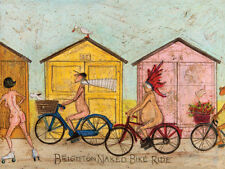 Sam Toft - Brighton Naked Bike Ride - Ready Framed Canvas 30x40cm