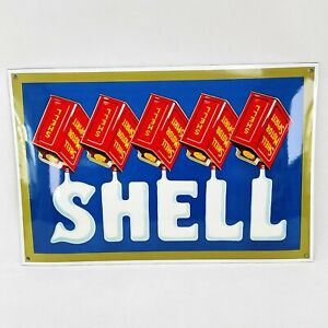 XL Shell Motor Spirit Enamel Sign 35x52cm