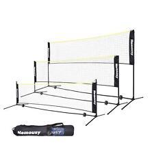 Portable Badminton Net Set for Tennis, Soccer Tennis, Pickleball, Kids 10-17 FT