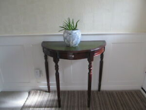 Vintage Reproduction Half Moon Hallway, Side Table with detachable legs