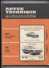 revue technique N°348  de 1975 :  FORD CAPRI II 4 cyl. / SIMCA 1301-1501