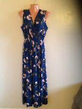 Women's Sleeveless Floral Print Long Maxi Dress