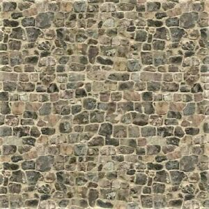 8 SHEETS EMBOSSED TEXTURED paper BRICK stone wall 20x28cm  SCALE 1/6 8 sheets