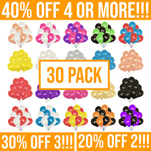 """30 Pack - Pearl 10"""" Latex Balloons. Helium Baloons for Wedding & Birthday Party"""