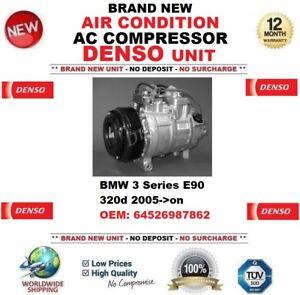 DENSO AIR CONDITION AC COMPRESSOR for BMW 3 E90 320d 2005->on OEM: 64526987862