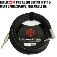 Kirlin 20 FT Cable Right-Angle Electric Patch Cord Guitar +Free Cable Tie NEW