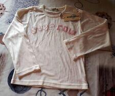 t-shirt fille blanc manches longues - taille 6 ans (neuf avec étiquette)