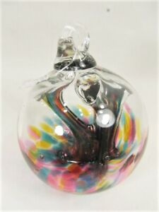 Gazing Ball 3 inch hand blown glass ornament (K)