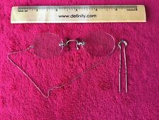 Antique Glasses with Hair Pin and Chain