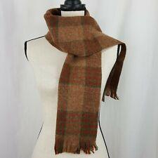Cisco Scarf Unisex Vintage Muffler Multi Plaid Fringe Shetland Wool Scotland