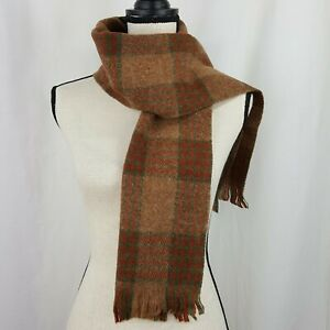 Cisco Scarf Unisex Vintage Muffler Multi Plaid Fringe Shetland Wool Scotland