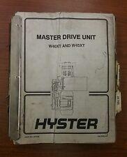 HYSTER MASTER DRIVE UNIT FORKLIFT MANUAL- W40XT, W45XT, 897488