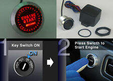 Universal 12V Push Button Ignition Engine Start Starter Switch Kit JDM Red Led