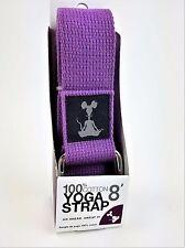 YogaRat Violet 100% Cotton Yoga Strap 8' New