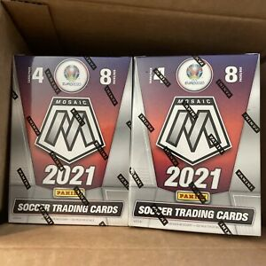 (Lot of 2) 2021 Panini Mosaic SOCCER,UEFA Euro2020 Blaster boxes *IN HAND*