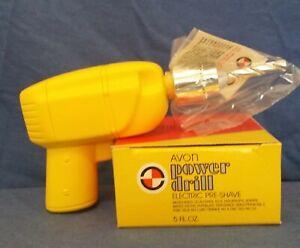 Vintage Power Drill Electric Pre-Shave by Avon. NIB 5 fl oz with original box