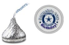DALLAS COWBOYS PERSONALIZED HERSHEY KISS LABELS STICKERS BIRTHDAY PARTY FAVORS
