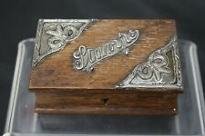 Vintage Wood & Solid Silver Trinket Box Hallmarked 1904