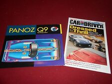 1998 PANOZ Q9 FORD HYBRID CATALOG & 2001 PANOZ ESPERANTE 8 p COMPARISON BROCHURE