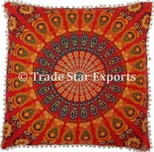 Large Euro Sham Square Pillow Case 26x26 Decorative Mandala Throw Cushion Cover