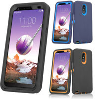 For LG Stylo 5 / Stylo 4 Plus Phone Case Rubber Armor Cover (Fits Otterbox Clip)