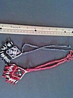 Vintage Native American made Necklaces, Thunderbird,Beaded Necklaces, Unique