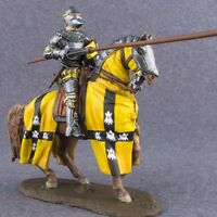 Hand Painted Rider Medieval 1/32 Cavalry Knight with Lance Toy Tin Soldier 54mm