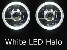 "Toyota Landcruiser 45 47 55 70 75 series WHITE LED Halo 7"" Round headlights"