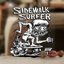 "Sidewalk Surfer Ed Roth sticker decal hot rod rat fink skate old school 3.75"""