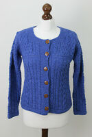 CARRAIGDONN Blue Button Up Jumper size M