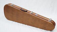 Allen Eden Teardrop Alligator Brown Guitar Case with Leopard Super Soft Plush