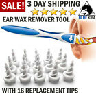 Ear Wax Remover Tool Ear Wax Cleaner Removal Spiral Picker Tips Q-Grips Care Kit <br/> ⭐⭐⭐⭐⭐ US STOCK ✅ with 16 Replacement Tips 💓💓💓💓💓💓