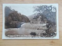 VINTAGE POSTCARD - THE WATERFALL - MONSAL DALE - DERBYSHIRE
