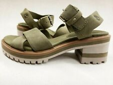 Timberland Women's Violet Marsh X-Band Sandals sample size 7 olive green