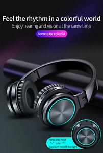 Bluetooth Headset Wireless Headphone Stereo Strong Bass Earphones Mic TF Sport