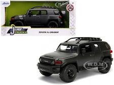 TOYOTA FJ CRUISER W/ROOF RACK CHARCOAL GRAY MET. 1/24 DIECAST CAR BY JADA 99318