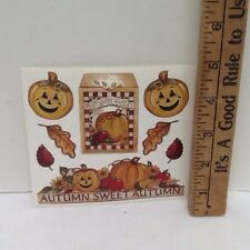 Autumn Pumkins Leaves SCRAPBOOKING Stickers by Joy Marie