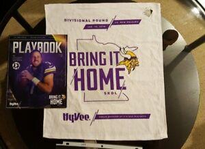 Minnesota Vikings 2018 Playoff Rally Towel + Program MINT Minneapolis Miracle