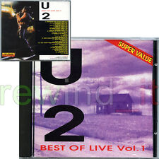 "U2 ""BEST OF LIVE VOL 1"" RARE CD 1993 MADE IN ITALY"