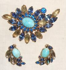 Vintage Blue/Green Rhinestone and Blue Opal Set Juliana?