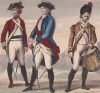 Uniformes Militaires Georges III 1780 Military Costumes Reign of George III UK