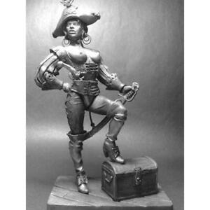 Anne Bonny 1720 year. One of the most famous female pirates. Tin miniature 80mm