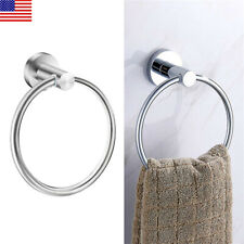 Small Bathroom Hand Towel Ring Bath Wall Mounted Rack Round Kitchen Sink Holder