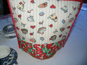 Tea Cozy Strawberries, Water Melon Print, Quilted, Hand Made, New