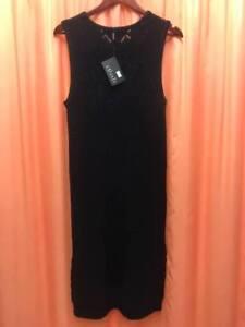 NEW LADIES ELLIATT BLACK KNIT DRESS SIZES EXTRA SMALL/6