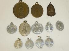 Lot of 12 Antique Vintage CATHOLIC Religious MEDALS CHARMS St Anthony Louis De G
