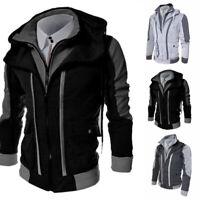Coat Men's Outwear Sweater Hooded Winter Jacket Warm Sweatshirt Hoodie Tops