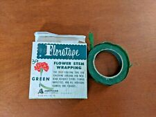Antique 1960s Floratape Flower Stem Wrapping in Green, Self Sealing
