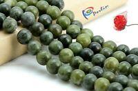 45 Edelsteine Perlen Natürliche Taiwan Jade 8mm Rund Grün Schmucksteine G636#3