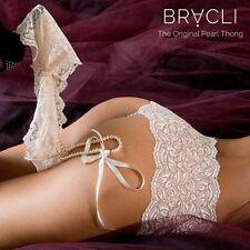 Bracli perles string pantie culotte (une coupe droite pour) one size >>> rouge